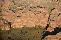 Purnululu National Park, Bungle Bungle Range, aerial view, Unesco World Heritage Site, Kimberley, Western Australia, WA, Australia