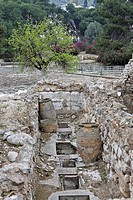 Warehouse ruins in the Palace of Knossos, Crete, Greece, Europe