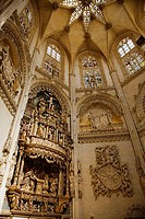 Altarpiece in the Chapel of the Condestable, cathedral of Burgos. Castilla-Leon, Spain