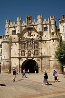 St Mary´s arch, old town gate (16th century), Burgos. Castilla-Leon, Spain