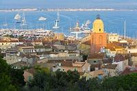 View of St Tropez. Côte d´Azur, French Riviera, France