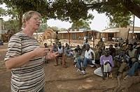 SOUTH SUDAN  The prison at Yei  Sister Petra Bigge of the Holy Spirit Missionaries, and who works for Jesuit Refugee Services JRS conducting a prayer ...