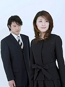 Portrait of Mid_Adult Couple in Formal Clothing