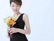 Mid_Adult Woman with Bouquet