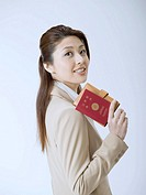 Businesswoman with Passport
