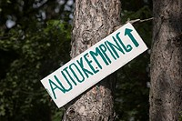 Sign Autokemping (Autocamping), Slovakia