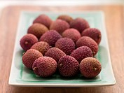 Plate Of Fresh Lychees