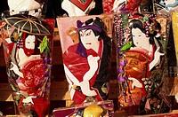 Japan, Asia, Honshu, Tokyo, Asia, Hagoita, Festival, Festivals, Traditional Art, Japanese Art, Culture, Cultural, Ukiy