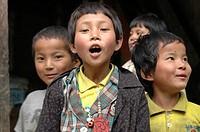 Children, Punakha, Bhutan