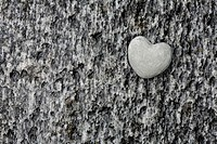 Heart, symbol, love, hearts, stones, riverbed, Verzasca river, Canton Ticino, Switzerland, Europe, rock, rocks, detail