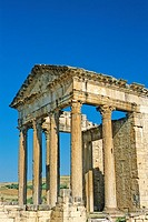 Tunisia, Dougga (also known as Thugga), impressive Roman ruins, the Capitol