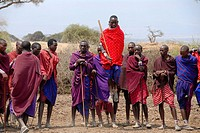 masai men jump high at dance