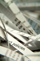 Close_up of strips of a financial newspaper
