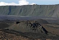 Caldera of Piton de la Fournaise volcano, La Reunion Island, France, Africa