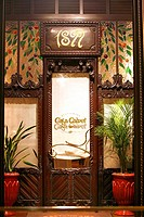 Entrance of Casa Calvet Restaurant, Eixample, Barcelona, Catalonia, Spain