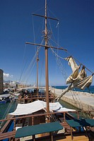Neptun Pirate boat trip, by Kaleidoskop Turizm, and harbour, Kyrenia, Girne, Cyprus