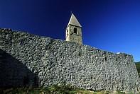 The fortified church of the Holy Trinity in Hrastovlje, Slovenia