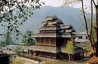 Monastery near Mae Hong Son, North Thailand, Thailand