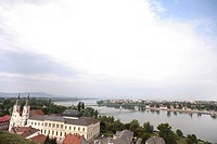 View over Esztergom and the Danube, Esztergom, Hungary