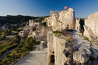 The rock fortress under a blue sky, Les_Baux_de_Provence, Vaucluse, Provence, France