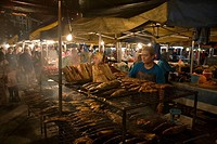 Grilled Fish at Night Market, Pasar Malam Night Market, Bandar Seri Begawan, Brunei Darussalam, Asia