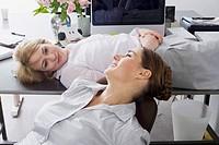 Businesswomen Taking Break in Office