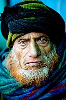 beautiful close up portrait of a man in kashmir