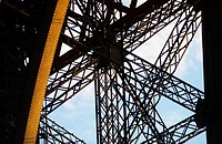 Close_up metal grid work of the Eiffel tower