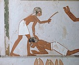 Wall paintings, tomb of Menna, Thebes, UNESCO World Heritage Site, Egypt, North Africa, Africa