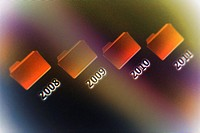 Close-up of computer icons on a visual screen (thumbnail)
