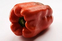 Close_up of a red bell pepper