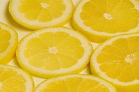 Close_up of lemon slices