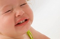 Close_up of a girl crying