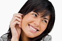 Close-up of a young woman smiling (thumbnail)