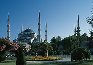Sultan Ahmed Mosque, Istanbul, 1609 _ 1617. Also known as the blue Mosque. Exterior. Architect: Mehmed Aga