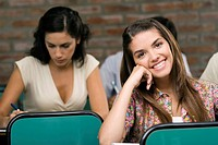 University students sitting in a classroom (thumbnail)