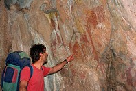 Cave paintings between 4000 and 5000 years old, Gruta do Janelao, Peruacu, Minas Gerais state, Brazil, South America