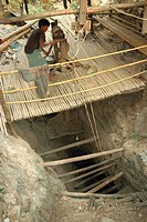 Vein mine 300 metres deep, Mogok ruby mines, near Mandalay, Myanmar Burma, Asia