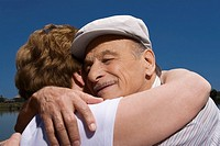Close-up of a senior couple embracing each other (thumbnail)