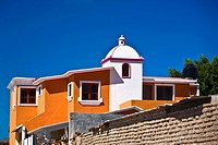 Low angle view of a building, Mitla, Oaxaca State, Mexico