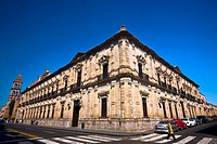Low angle view of a building, Palacio Federal, Morelia, Michoacan State, Mexico