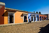 Houses in a street, Oaxaca, Oaxaca State, Mexico