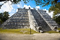 Old ruins of a building, The Ossuary, Chichen Itza, Yucatan, Mexico