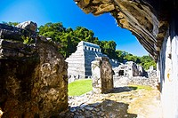 Old ruins of a temple, Templo De los Inscripciones, Palenque, Chiapas, Mexico (thumbnail)