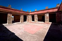 Courtyard of a palace, Quetzalpapalotl Palace, Teotihuacan, Mexico
