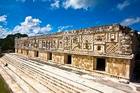 Old ruins of a building, Cuadrangulo De los Pajaros, Uxmal, Yucatan, Mexico