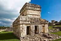 Old ruins of a temple, Zona Arqueologica De Tulum, Cancun, Quintana Roo, Mexico