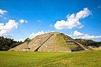 Pyramid on a landscape, El Tajin, Veracruz, Mexico