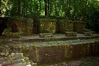 Old ruins of a building, Group C, Palenque, Chiapas, Mexico