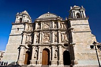 Low angle view of a cathedral, Oaxaca Cathedral, Oaxaca, Oaxaca State, Mexico